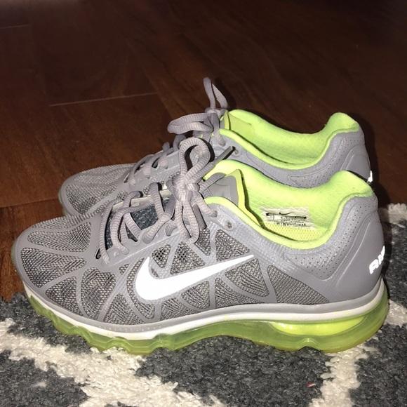 Neon green/grey women's Nike air max